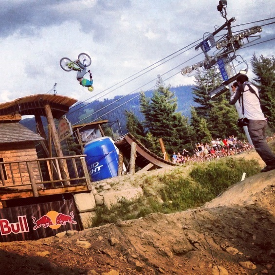 Winning stunt at Crankworx 2012
