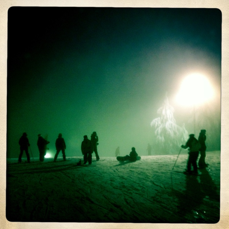 night skiing on Mt Seymour