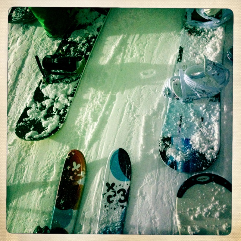 skis and snowboards
