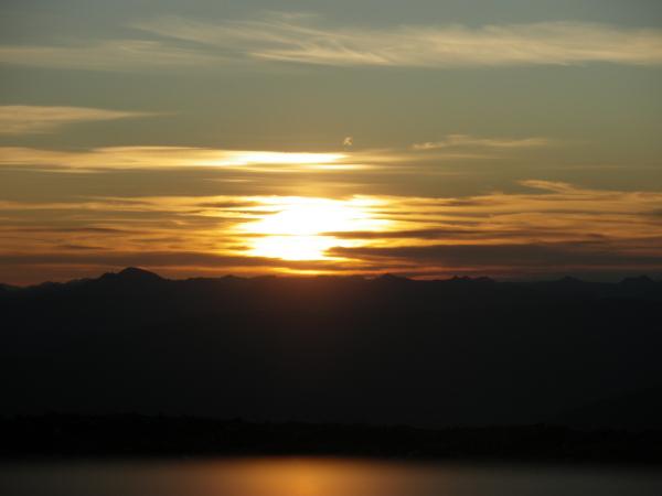 solstice sunrise over Keno Hill