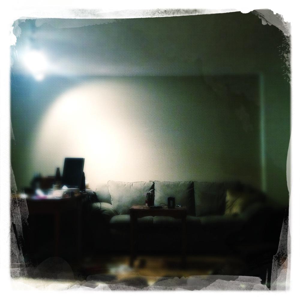 In my den