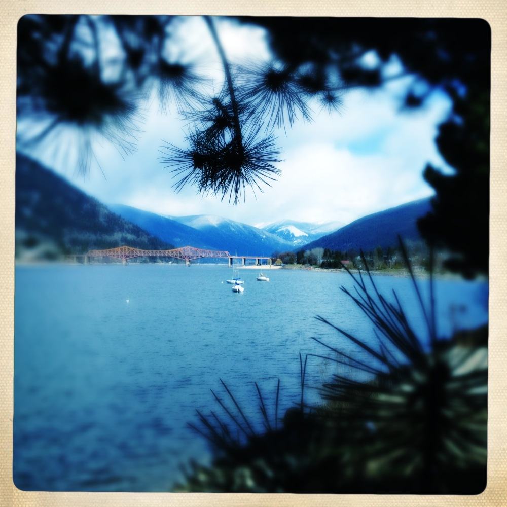 view of Kootenay Lake from Nelson, BC