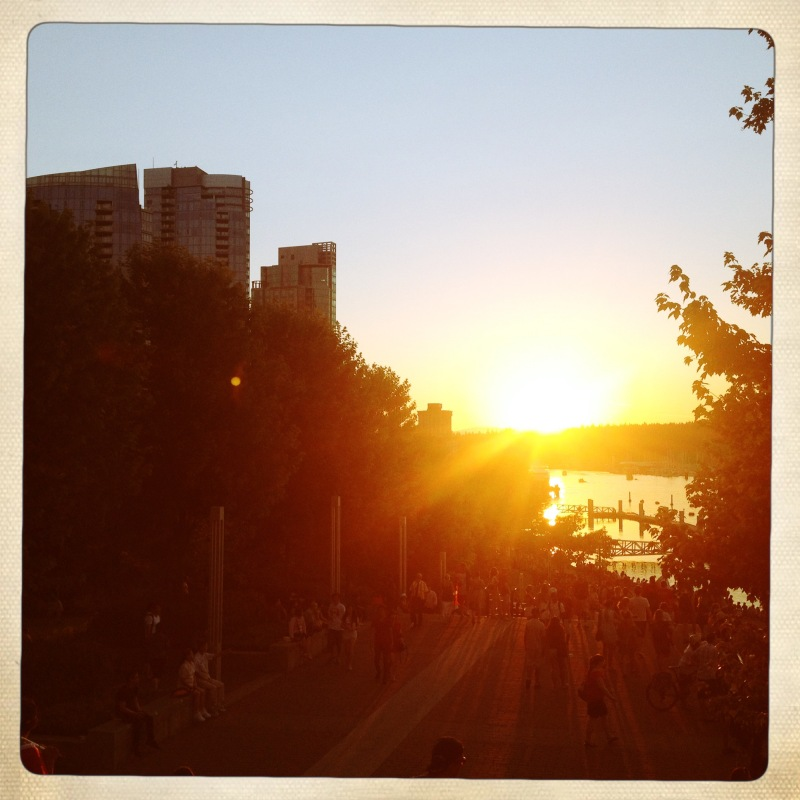 Coal Harbour sunset before Fireworks