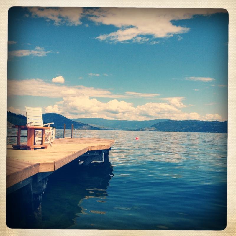dock on Okanagan Lake