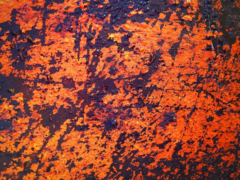 Close up of rusty paint