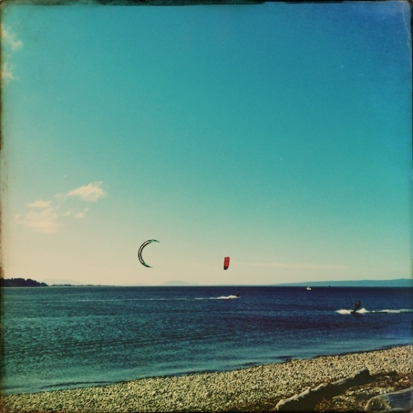 Kite surfers in Tsawassen