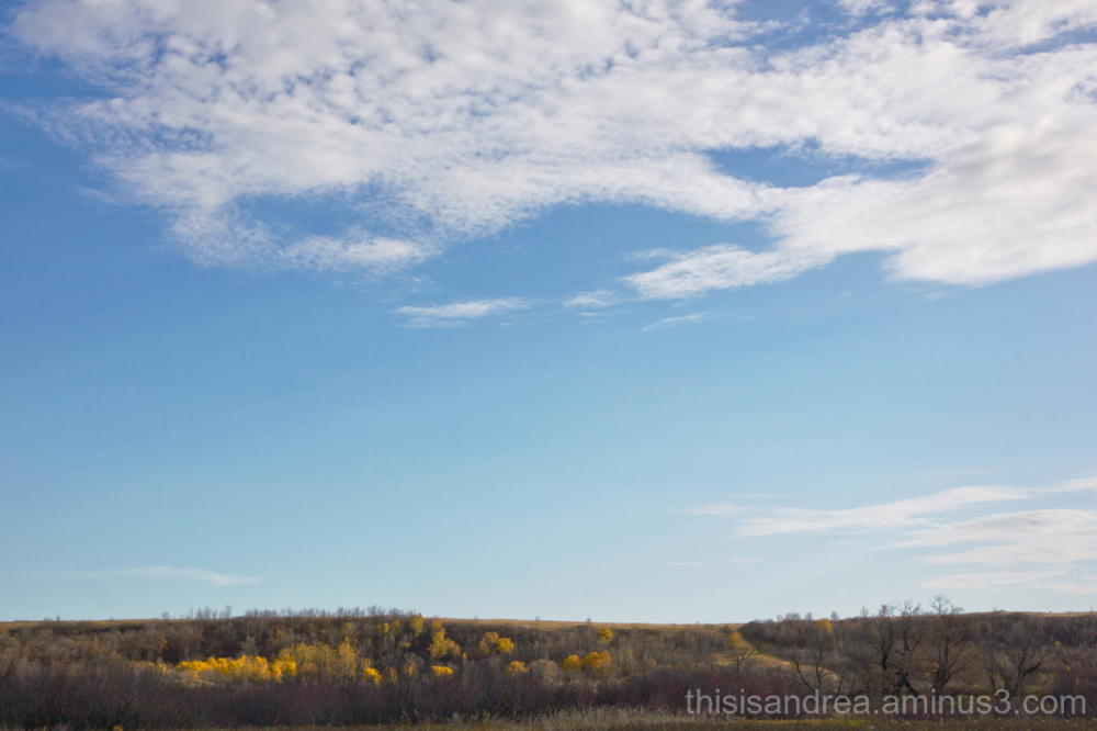 prairie valley in fall