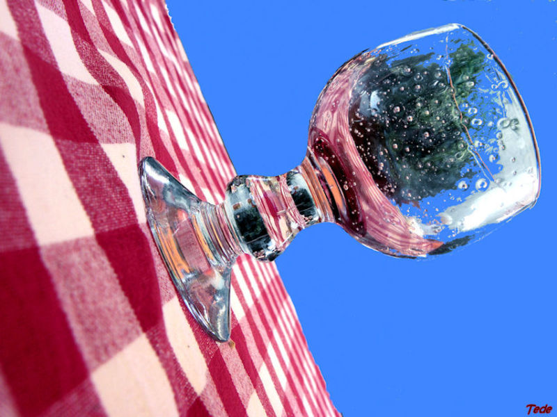 Reflets dans un verre