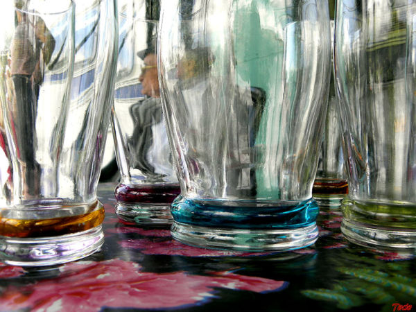Dans les verres
