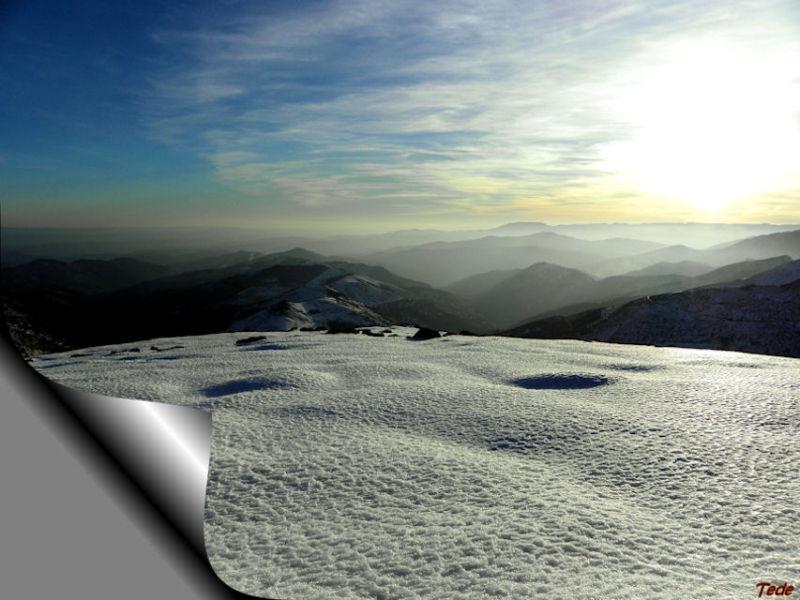L'ardèche sous la neige