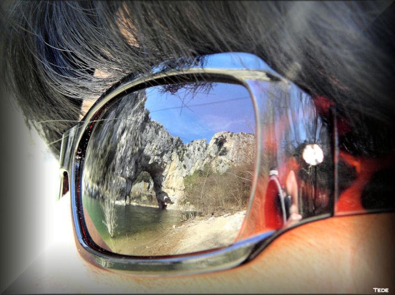 Reflets du Pont-d'Arc (Ardèche)
