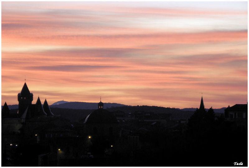 Le jour se lève, Aubenas, Ardèche