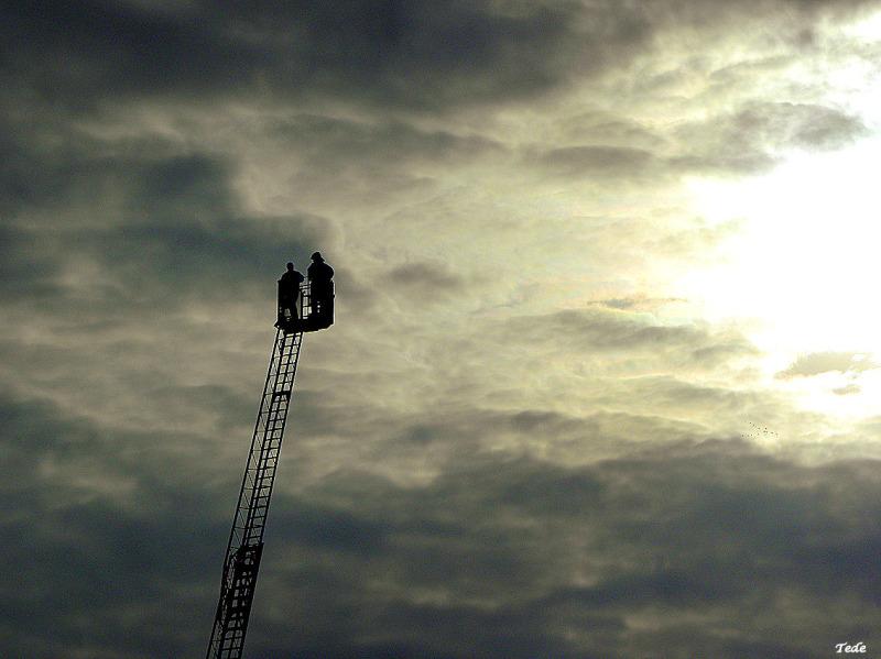 La grande échelle des pompiers