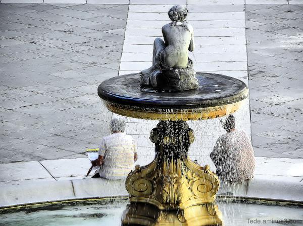 La cigale, la fourmi et maintenant la fontaine...
