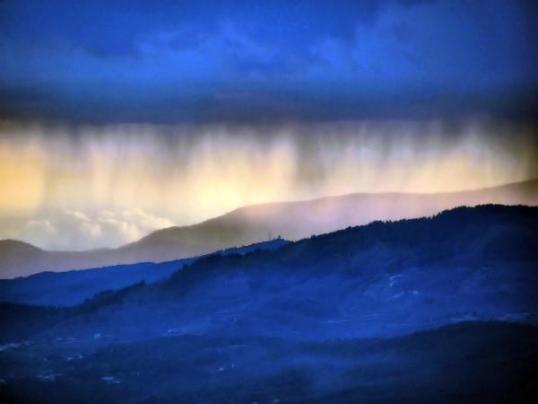 Pluie sur l'horizon