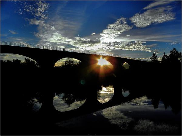 Soleil et  reflets