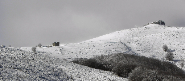 Ruine dansla neige