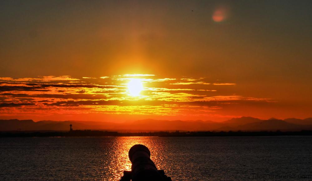 Coucher de soleil à Rosas, Espagne