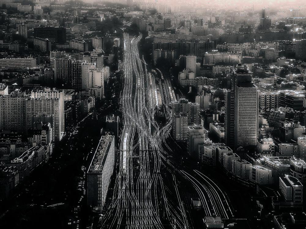 Gare de chemin de fer à Paris