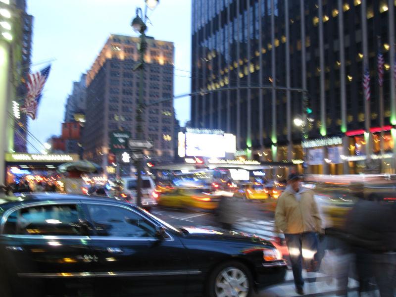 The ever rushing Manhattan