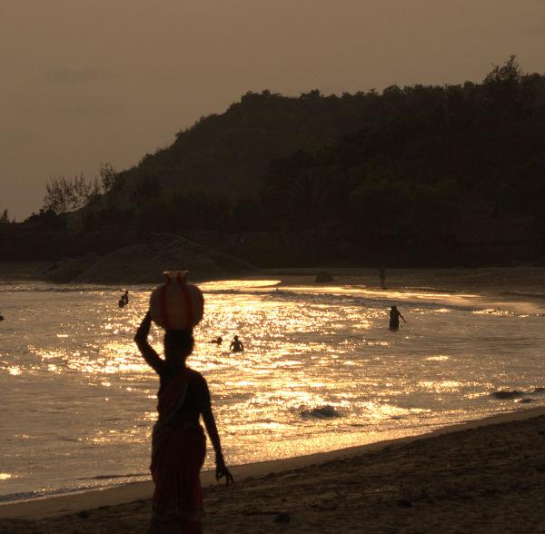 Golden sunset at Om beach
