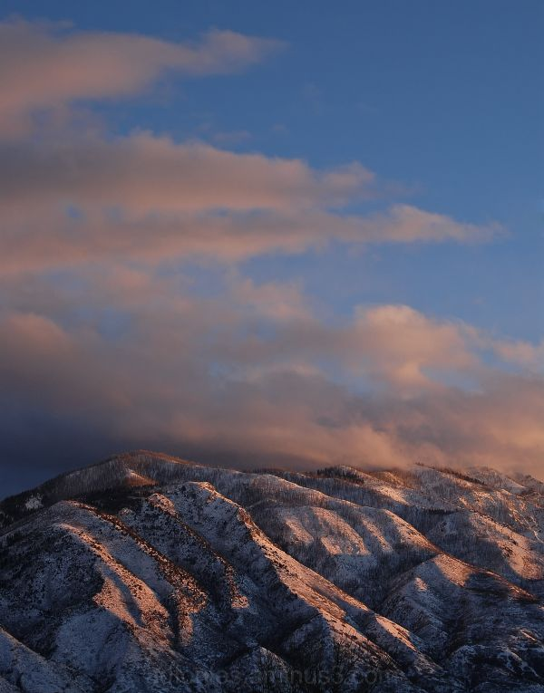 Snowy Mountain Sunset 1