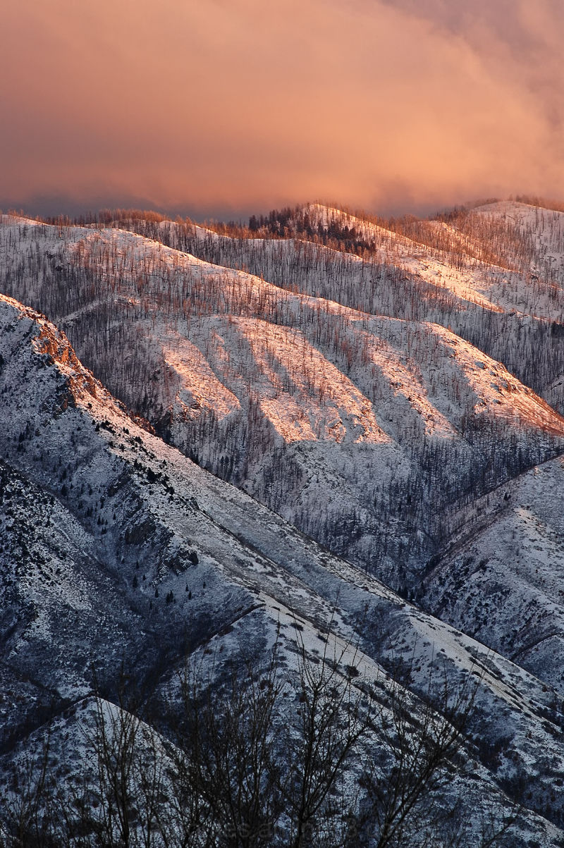 Snowy Mountain Sunset 2