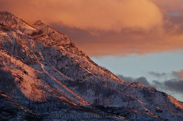 Snowy Mountain Sunset 3