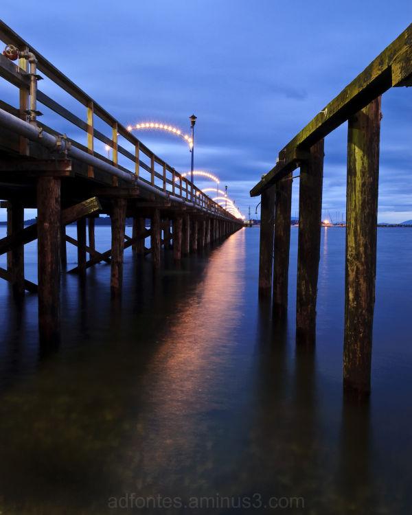 Beach Pier in White Rock British Columbia Canada