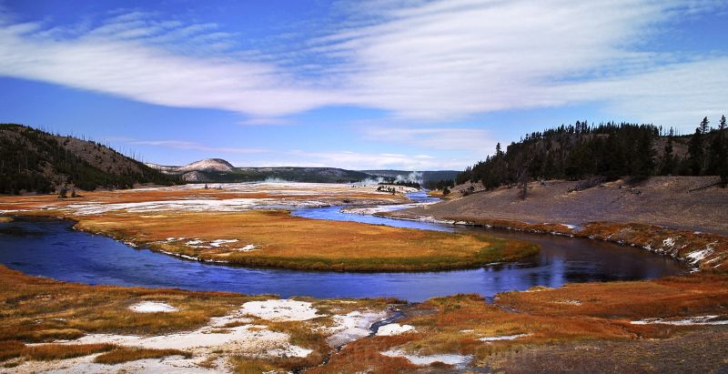 Firehole River, Lower Geyser Basin, Yellowstone WY