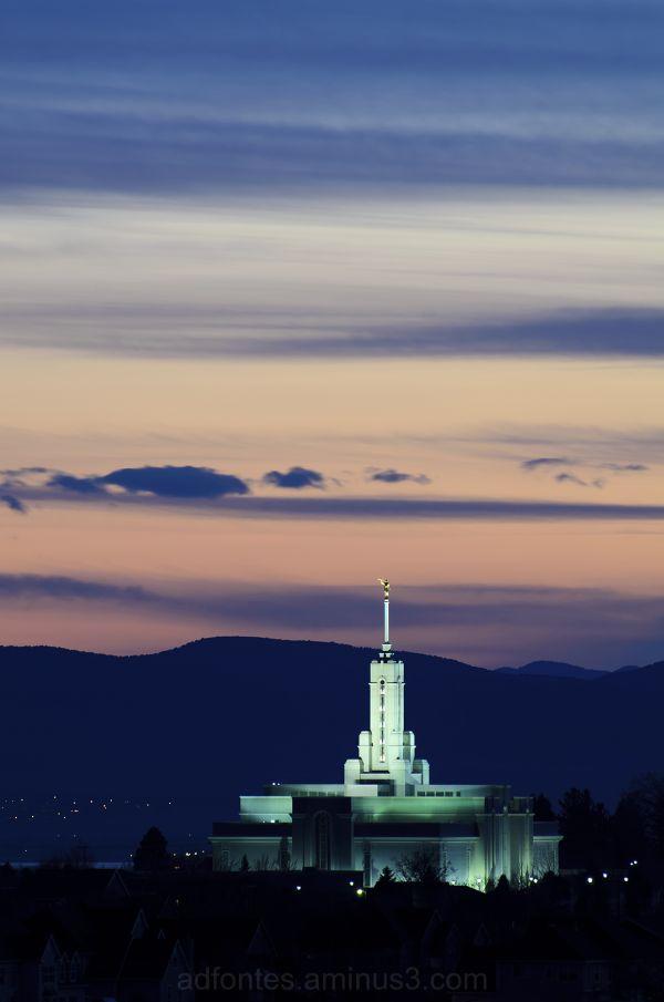 Mount Timpanogos Temple at Twilight