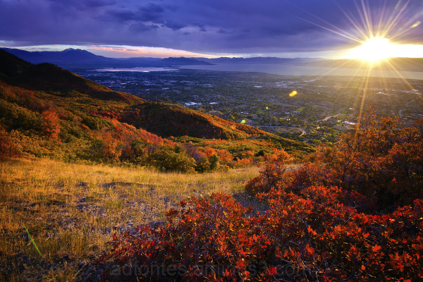 Autumn Sunset over Utah Valley
