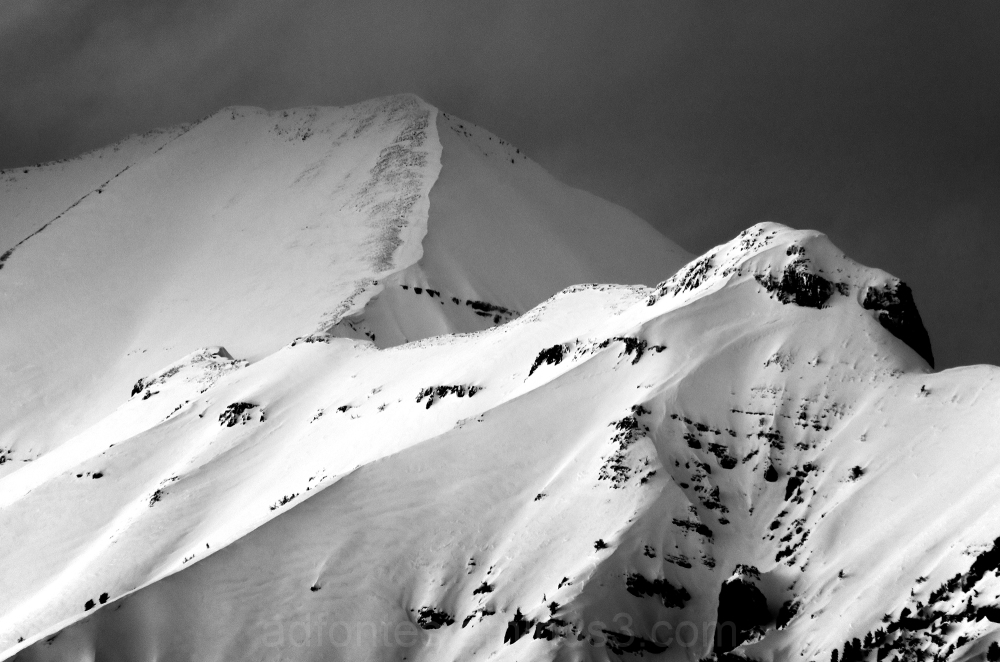 Stormy Winter Mountaintop