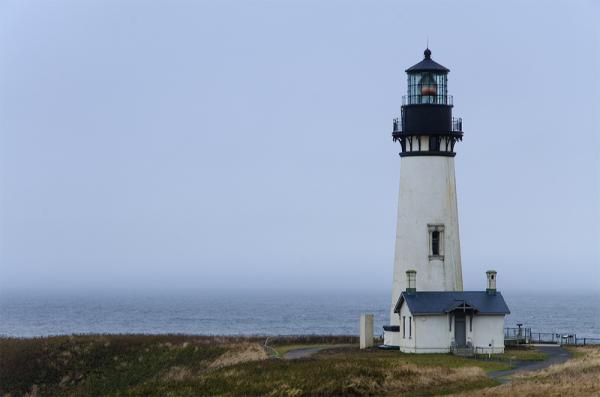 Hazy mid-morning at Yaquina Head Lighthouse Oregon