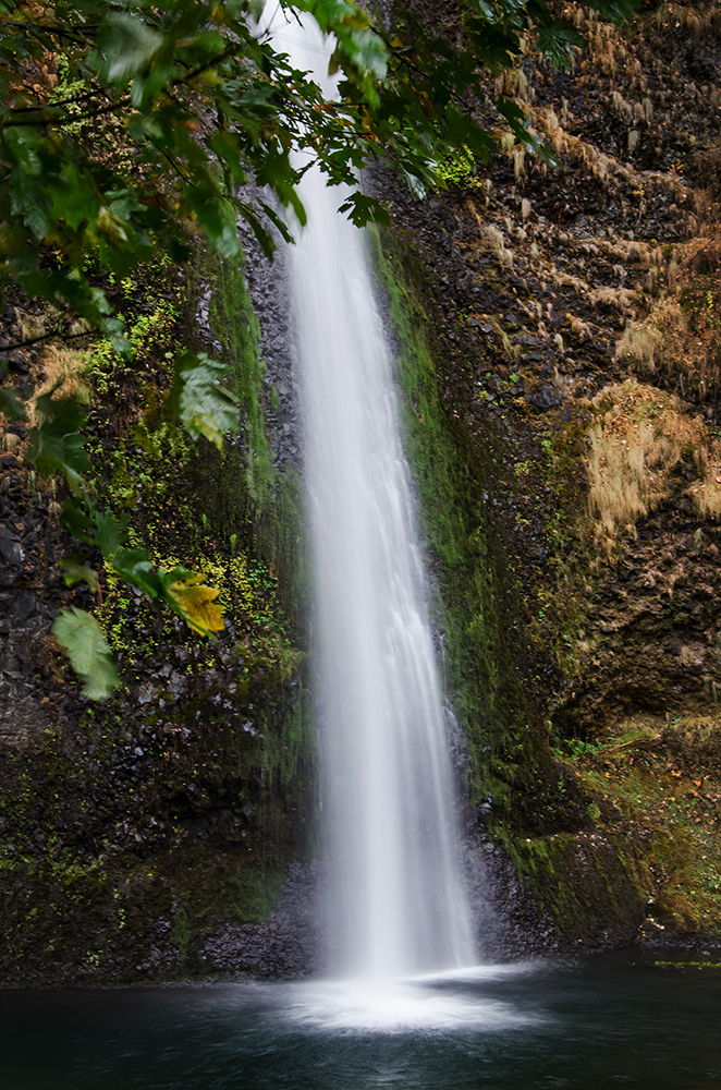 Horsetail Falls in Columbia River Gorge in Autumn