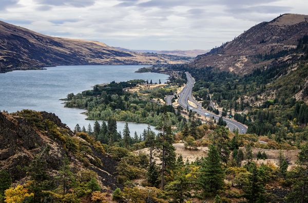 Columbia River Gorge view from Historic Highway OR