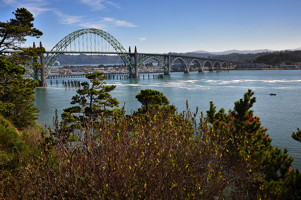 Yaquina Bay bridge in Newport, Oregon