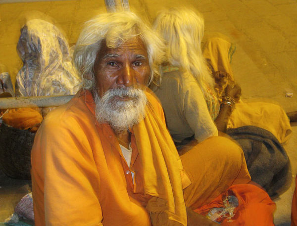 un saddhu à Benares