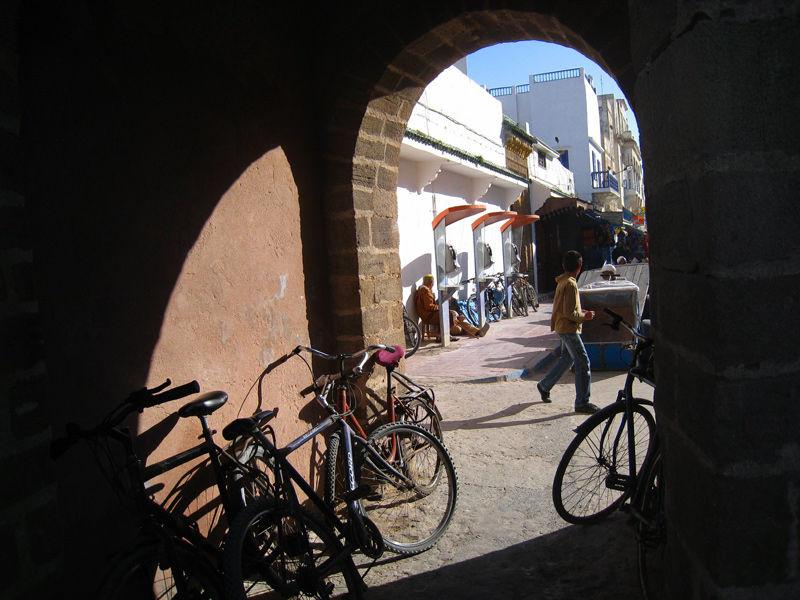 Maroc essaouira  bikes streets