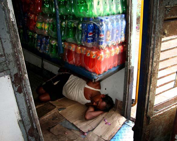 Inde  train bar dormeur