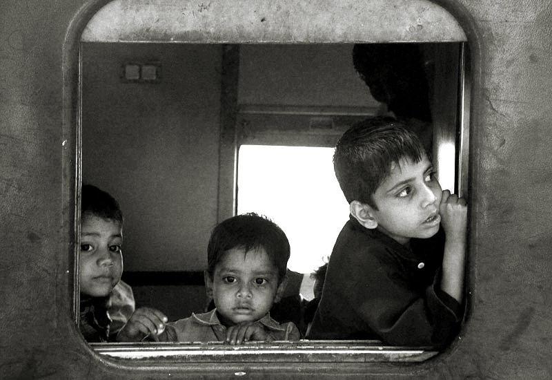 children  train india