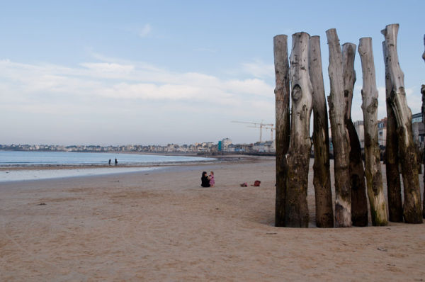 The beach in St Malo