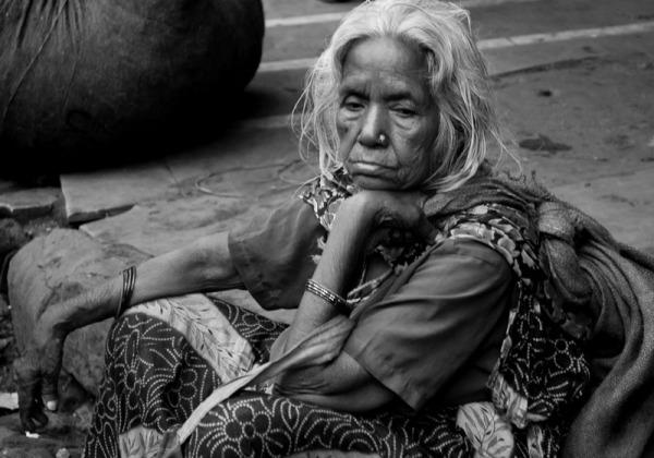 old woman Delhi