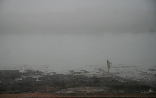 fog child seaside Morocco