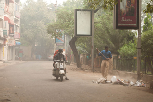 Early morning in Delhi