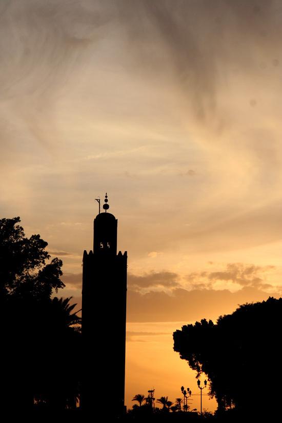 Morroco Marrakech evening time
