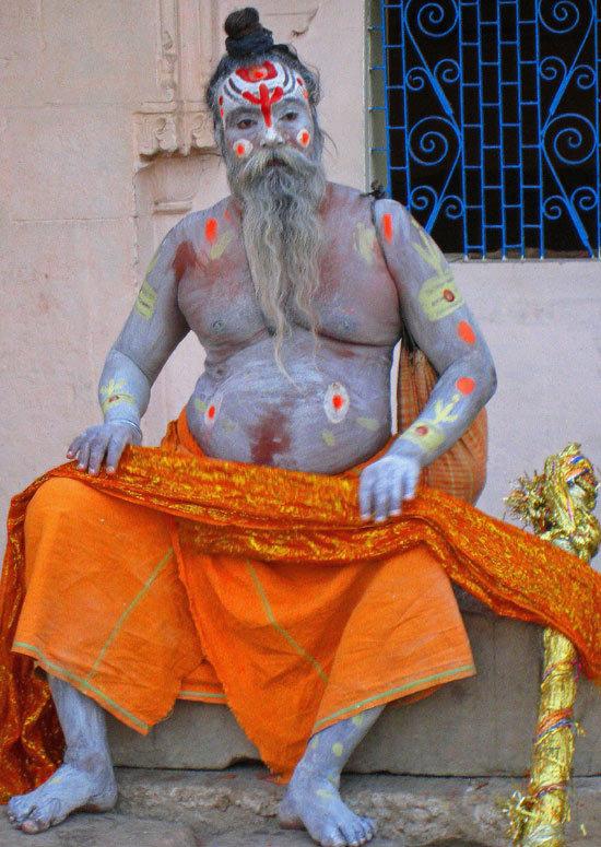 India varanassi  saddhu