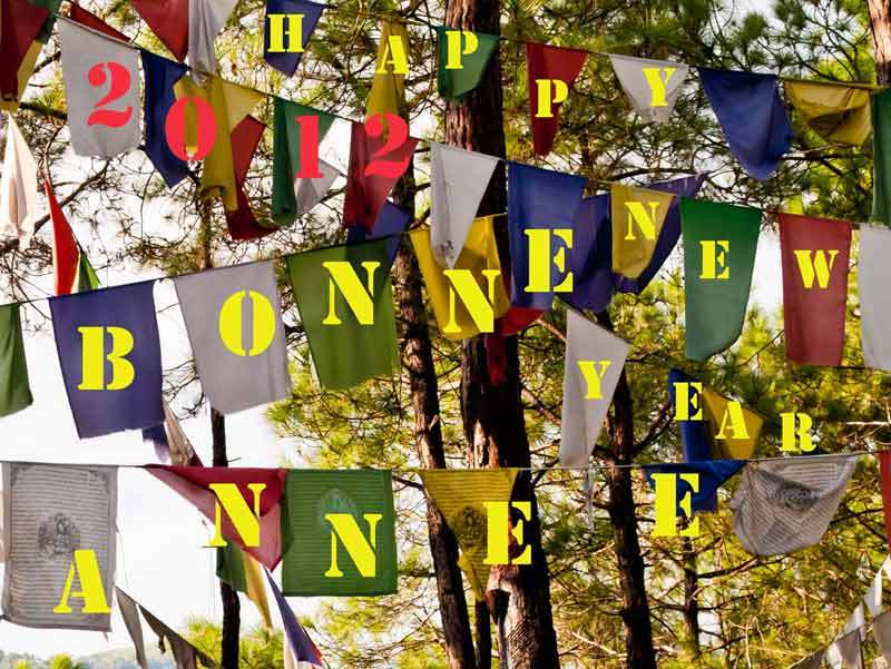 prayer flags, 2012, new year