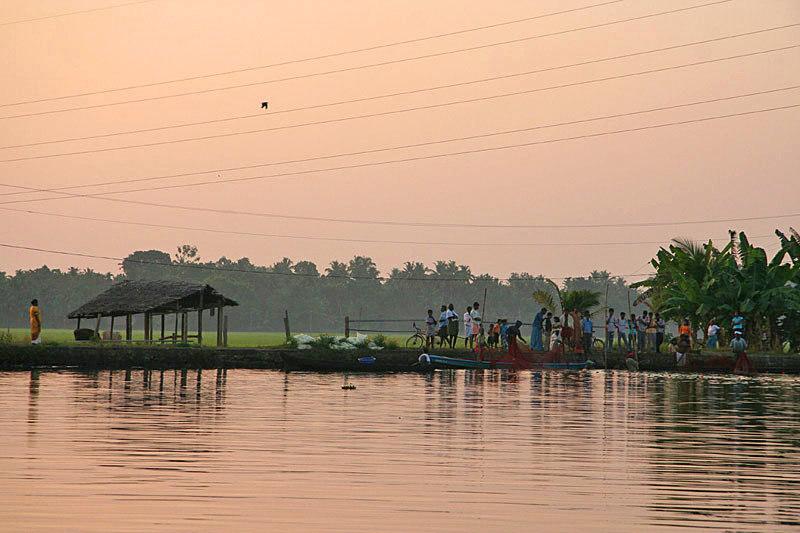 India kerala  on the river