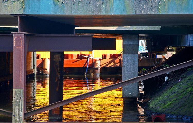 dans le port d 'Amsterdam